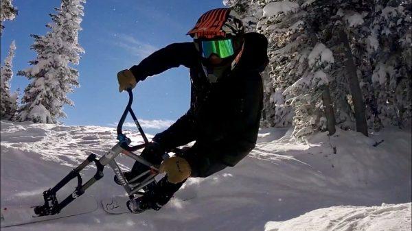 How to control speed on a ski bike